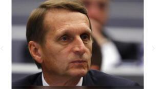 /  رئيس جهاز الاستخبارات الخارجية الروسي سيرغي ناريشكين