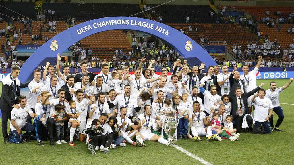 ريال مدريد يحتفل بلقب دوري أبطال أوروبا 28-05-2016 ( أرشيف)