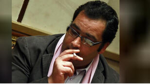 زياد العليمي القيادي في الحزب المصري الديمقراطي الاجتماعي والمتحدث باسم ائتلاف ثورة 25 يناير