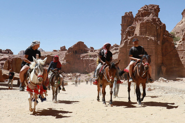 في مدينة البتراء الاثرية الأردنية