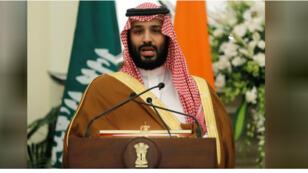 ولي العهد السعودي الأمير محمد بن سلمان يتحدث في نيودلهي يوم 20 فبراير شباط 2019