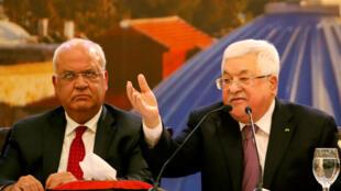 رئيس السلطة الفلسطينة محمود عباس يرد على خطة صفقة القرن المقترحة من الرئيس الأمريكي دونالد ترامب يوم 28 يناير-كانون الثاني 2020