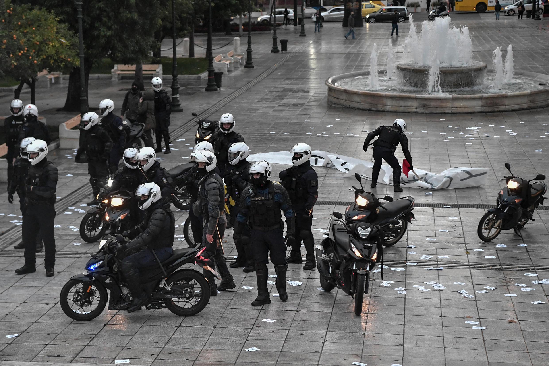 police grèce