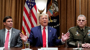 ترامب يلتقي كبار القادة العسكريين في البيت الأبيض في واشنطن-