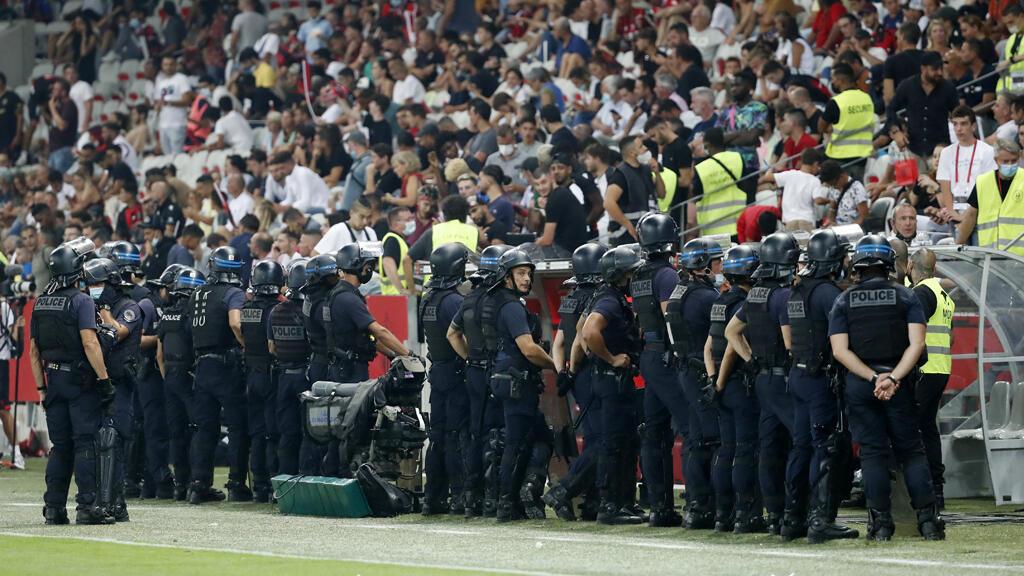 شغب وسط الجماهير خلال مباراة مرسيليا ضد نيس