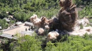 تفجير مواقع نووية في كوريا الشمالية