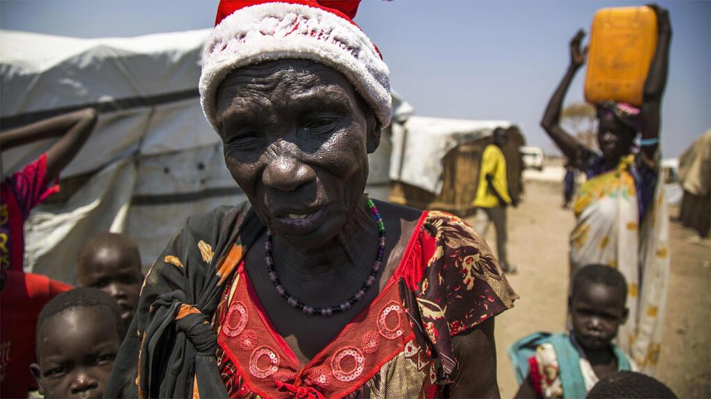 نازحون في مدينة بينتيو جنوب السودان 16 شباط/فبراير 2016