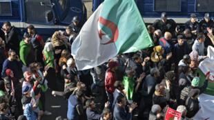 تظاهرة في الجزائر العاصمة يوم 14 فبراير/ شباط 2020
