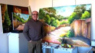 الفنان التشكيلي العراقي منير العبيدي