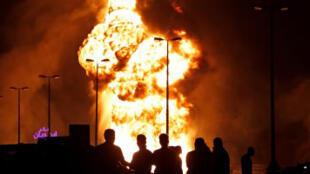 حريق خط أنابيب للنفط في البحرين