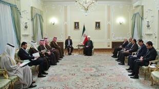الرئيس روحاني يستقبل في طهران نائب رئيس الوزراء وزير الخارجية الكويتي الشيخ صباح الخالد الصباح