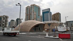 محطة المترو السريع في الدوحة