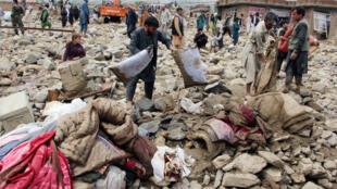 آثار السيول الكارثية في أفغانستان
