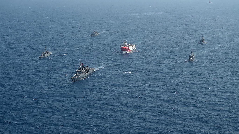 سفن البحرية التركية في البحر الأبيض المتوسط