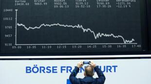 بورصة فرانكفورت تسجل انخفاضا حادا - ألمانيا