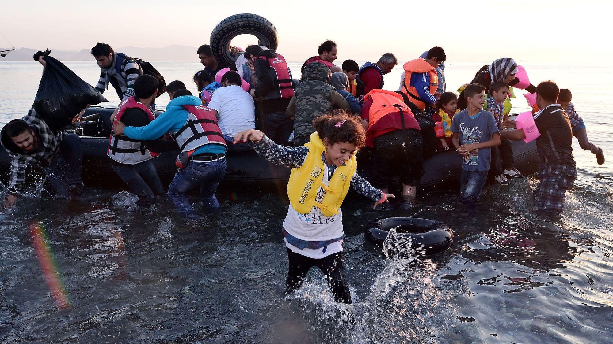 لاجئون في البرح الأبيض المتوسط