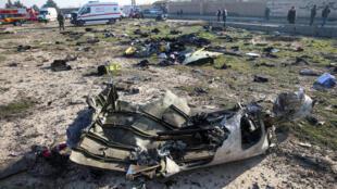 موقع سقوط الطائرة الأوكرانية في إيران