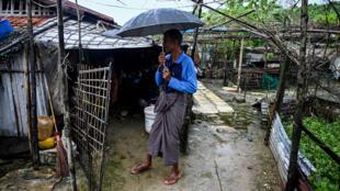 رجل من الأقلية المسلمة الكامان في مخيم تشاوبيو بوسط ولاية راخين في 03 أكتوبر2019