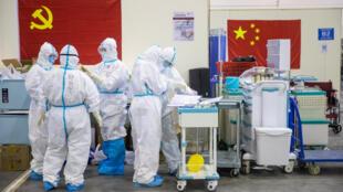 في مستشفى مدينة ووهان الصينية