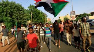 محتجون في السودان-