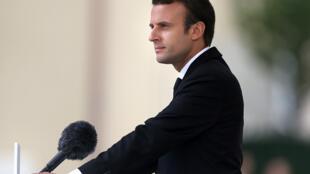 الرئيس الفرنسي إيمانويل ماكرون 26-07-2017
