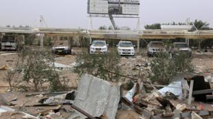 مطار كربلاء بعد غارة جوية أمريكية استهدفت جماعات مؤيدة لإيران في العراق يوم 13 مارس/آذار 2020