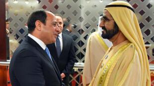 الرئيس المصري خلال زيارة للإمارات عام 2018