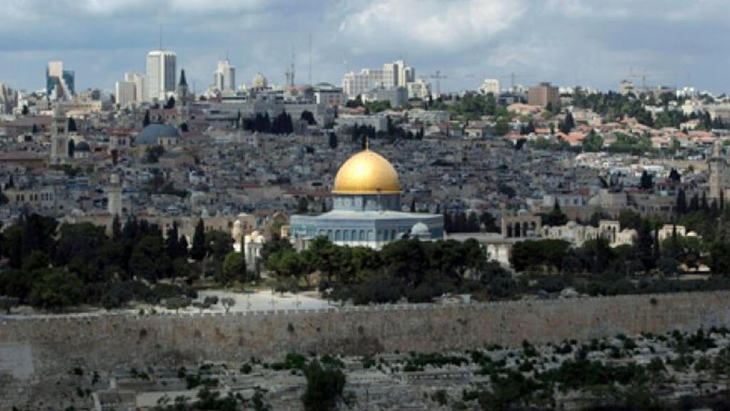 منظر عام لمدينة القدس يظهر لمسجد الأقصى