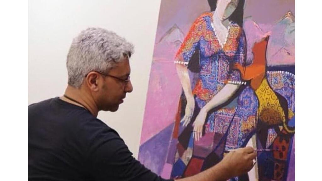 الفنان التشكيلي محمد نشأت من البحرين