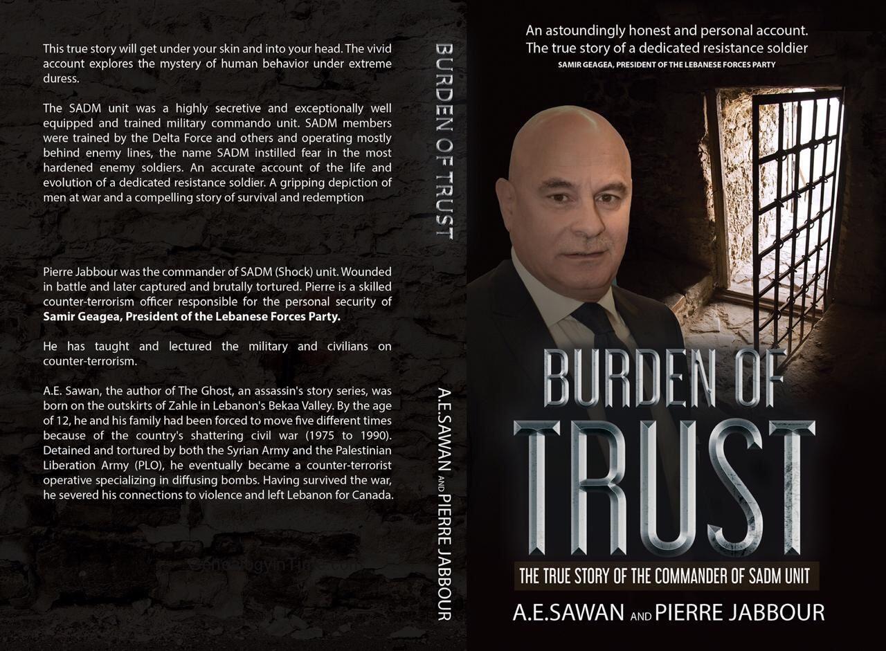 """كتاب """"عبء الثقة"""" للمسؤول في حزب القوات اللبنانية بيار جبور"""