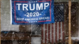 لافتة دعم للرئيس الأميركي دونالد ترامب