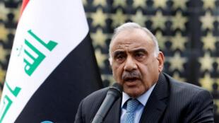 رئيس الوزراء العراقي عادل عبد المهدي يتحدث في بغداد
