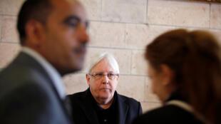 محادثات مع مارتن غريفيث مبعوث الأمم المتحدة الجديد إلى اليمن (رويترز)