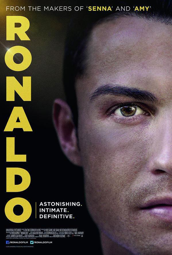 ملصق الفيلم الوثائقي عن حياة كريستيانو رونالدو