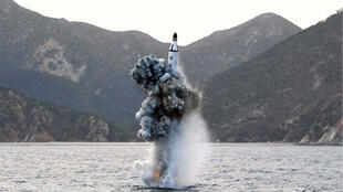 صاروخ بالستي أطلقته كوريا الشمالية في إطار تجاربها النووية / أرشيف