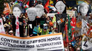 متظاهرون معارضون لقمة مجموعة السبع في فرنسا