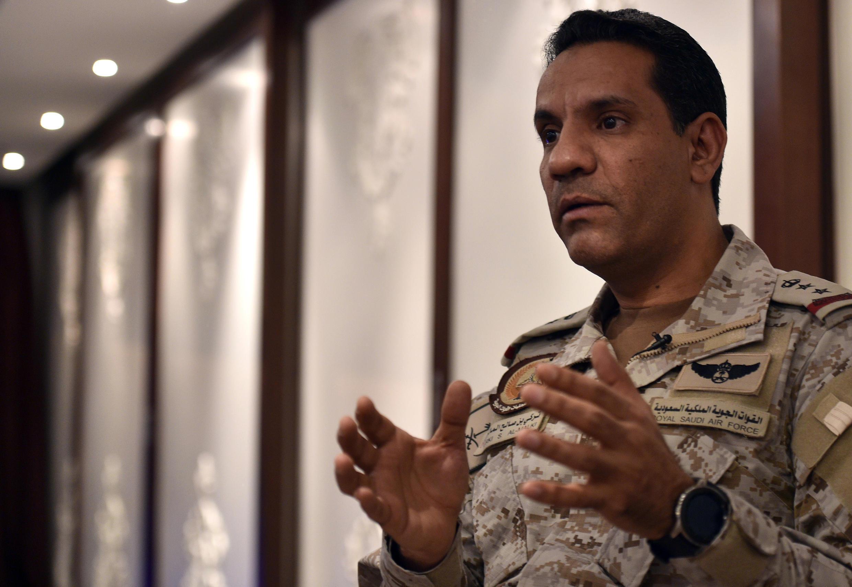 المتحدث باسم التحالف العسكري بقيادة السعودية العقيد تركي المالكي في 21 مايو 2019.