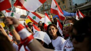 خلال عرض في الذكرى 76 لاستقلال لبنان، في ساحة الشهداء في بيروت-