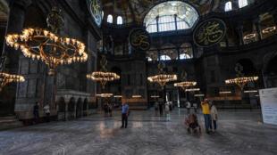 مسجد آيا صوفيا في إسطنبول يوم 10 يوليو تموز 2020