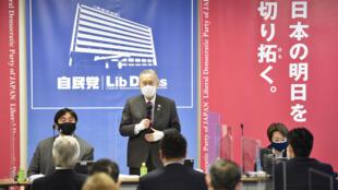 رئيس اللجنة الأولمبية اليابانية يوشيروي موري خلال اجتماع يوم 2 فبراير 2021