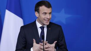 / الرئيس الفرنسي  ايمانيول ماكرون