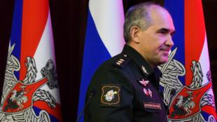 الجنرال الروسي رودسكي خلال اجتماع لبحث الوضع في سوريا، موسكو 06-09-2017