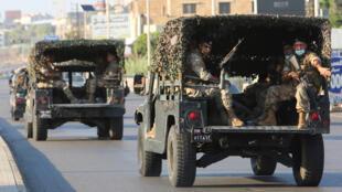 دورية للجيش اللبناني في مدينة صيدا