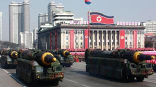 استعراض عسكري كوري شمالي