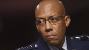 الجنرال براون خلال جلسة استماع في الكونغرس الأمريكي 2020