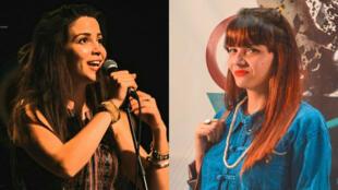 المغنيتان وفاء حرباوي وصابرين جنحاني