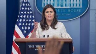 ساره ساندرز، المتحدثة باسم البيت الأبيض