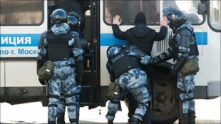 الشرطة الروسية تعتقل متظاهرين خلال مظاهرات موسكو