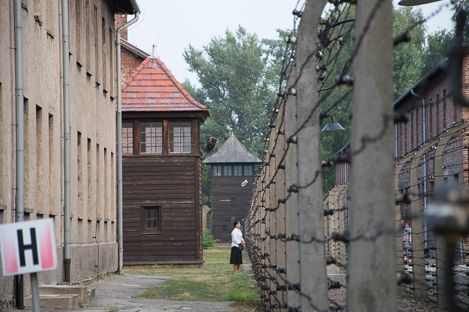 معسكر أوشفيتز النازي للاعتقال والإبادة في بولندا