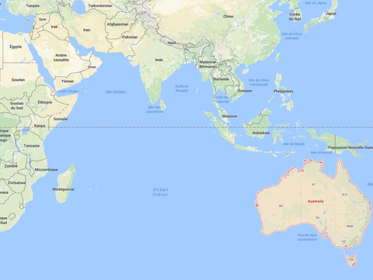 باحثون موقع قارة أستراليا انتقل مترا ونصفا إلى الشمال